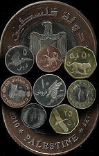 Palestine - 2010 8 Coin Set - private issue - 2 Sets (16 Coins)