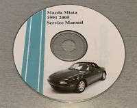 1991-2005 MAZDA MIATA  FACTORY SERVICE REPAIR MANUAL ON CD Free Shipping
