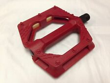 "New Wellgo B223N MTB/Trekking Bicycle Platform Pedals 9/16"" Red"