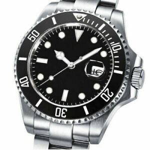 40mm BLIGER black dial sapphire glass PT5000 2824 clone Automatic mens Watch