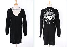 TH-09 Gr. S-M Strickjacke Cardigan schwarz black Eye Gothic Japan Trend Fashion