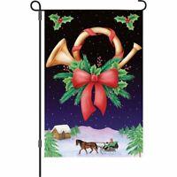 Holiday Horn Decorative Garden Flag