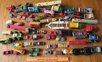 Diecast car Lot of Truck Firetruck tractor trailer Matchbox Lesney Dinky Tonka +