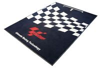 MOTOGP PARC FERME BLACK WHITE WORKSHOP GARAGE PIT MAT RUBBER BACKED 180 x 103cm