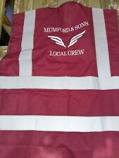 Mumford and Sons 2019 Tour  Hi Vis vests, size X large