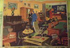 Objet de Métier Affiche Scolaire 42x30 Le Magasin de Meuble Début des années 70