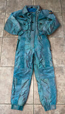 Vtg Emmegi Womens Green Polyester Snow/Ski Suit Size 42