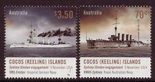 AUSTRALIA 2014 COCOS (KEELING) ISLANDS SYDNEY/EMDEN ENGAGEMENT UNMOUNTED MINT