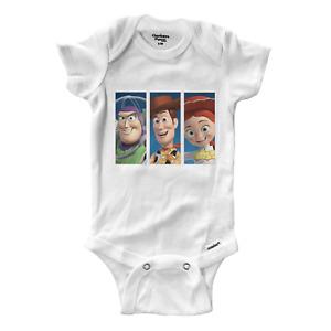 Infant Gerber Onesies Bodysuit Baby Buzz Lightyear Cowboy Woody Jessie Toy Story