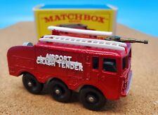 Vintage Lesney Matchbox #63 Fire Crash Tender With Box MINT CONDITION!!!!!!