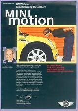 Mini Mini Motion Prospekt 1/01 brochure 2001 Auto PKWs Autoprospekt Broschüre