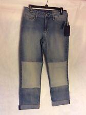 NWT NYDJ $140 Skinny Size 6 Karmin Patched Cuffed Stockton Womens Jeans