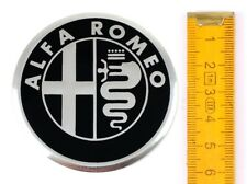 ALFA ROMEO ★4 Stück★ ALUMINIUM Ø60mm Aufkleber Emblem Felgenaufkleber Radkappen
