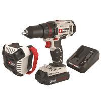 """Porter-Cable 20V MAX Li-Ion 1/2"""" Drill & Bluetooth Speaker Combo PCCK607LA New"""