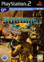 PS2 / Playstation 2 - Socom II / 2: U.S. Navy Seals #Promo [Whitelabel] nur CD