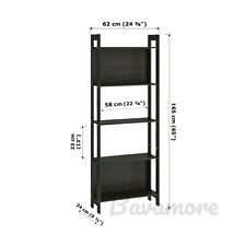 "IKEA LAIVA Bookcase, Open Storage black-brown, 24⅜""x65"" BRAND NEW-"