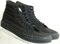 Vans Off The Wall Sk8-Hi High Top 721494 Black Skateboard canvas shoes Men's 6.5