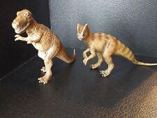 Pair Of Schleich Dinosaurs Tyrannosaurus & Allosaurus Figures Toys