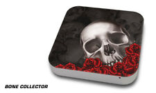 Skin Decal Wrap for Apple Mac Mini Desktop Computer Graphic Protector BONES BLK