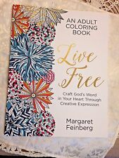 """NEW  """"LIVE FREE""""  ADULT ' RELIGIOUS' COLORING BOOK, with JOURNALING PAGES!"""