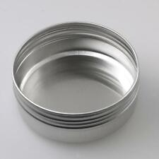 24pcs 60ml Silver Empty Round Tin Jar Container Case for Candle Balm Salves