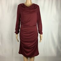 New Stitch Fix Renee C. Long Sleeve BodyCon Maroon Dress Large NWoT