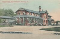 RAHWAY NJ – Pennsylvania Railroad Station - 1912