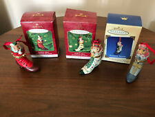 (3) Hallmark Fashion Afoot Collector's Series Ornaments 2000-2002