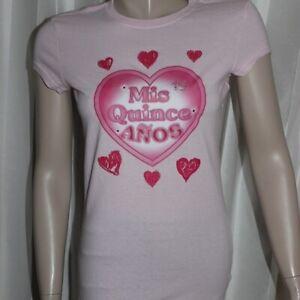 Mis Quince Anos Pink Top Spanish Birthday Ladies Size Medium