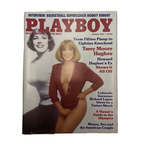 PLAYBOY Magazine Vintage Centerfold August 1984 Terry Moore Hughes Bobby Knight