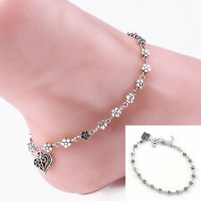 Barefoot Beach Foot Jewelry Ben Silver Bead Chain Anklet Ankle Bracelet