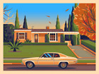 GEORGE TOWNLEY Quentin Tarantino Neighborhood Print JIMMIE'S HOUSE LE 36/125 BNG