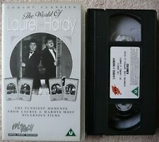 LAUREL AND HARDY VHS movie 'THE WORLD OF LAUREL & HARDY'. 1995