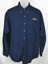 Gear Embroided Texas A & M Blue Corduroy Long Sleeve button front Men's Shirt LG