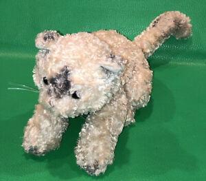 """GUND Bootsie Kitty Cat Plush 12"""" Stuffed Animal Beige Black Cat Tail Up Siamese"""