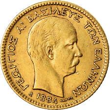 [#488986] Coin, Greece, George I, 20 Drachmai, 1884, Paris, EF(40-45), Gold
