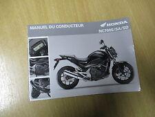 Manuel du conducteur Honda NC 700 S / SA / SD (RC61) Modelljahr 2012