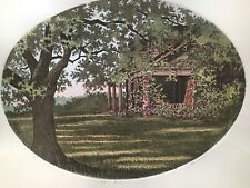Waven Boone AZALIA BLOOMS Colored Etching S/N #100/250 House & trees