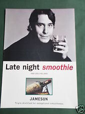 JOOLS HOLLAND -JAMESON WHISKY  MAGAZINE CLIPPING / CUTTING- 1 PAGE ADVERT