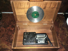 "ANTIQUE THORENS WOODEN BOX ""D2777"" BARCAROLLE DISC MUSIC BOX -  RECORD PLAYER"
