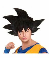 Peluca Disfraz de Son Goku Dragon Ball Guerrero Vegeta para Adulto