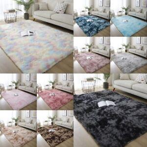 Tie-Dye Floor Rugs Shaggy Rug Soft Fluffy Area Carpet Bedroom Living Room Mat