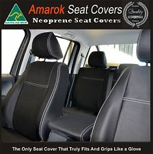 Seat Cover Volkswagen Amarok Premium Neoprene FRONT Full back Map pockets&REAR