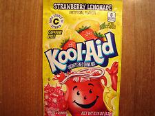30 Kool Aid Drink Mix STRAWBERRY LEMONADE popsicle flavor taste summer fun party