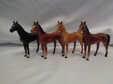 Handsome Antique Hubley Cast Iron Horse Colt Paperweights Multi Color Lot of 4
