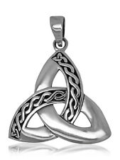 925 Solid Sterling Silver Celtic Triquetra/ Trinity/Triskele new design pendant