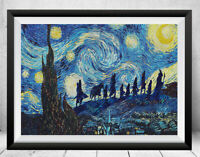 Lord of the Rings Starry Night Print Wall Art Decor Lord Of The Rings Art Poster