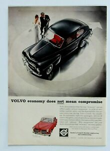 """1959 Volvo PV 544 Volvo 122 S 4 Door Vintage Original Print Ad 8.5 x 11"""""""