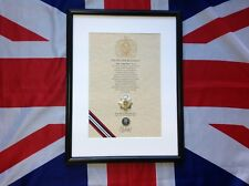 Oath Of Allegiance Royal Corps Of Transport RCT  (framed with Cap Badge)