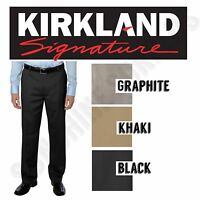 Kirkland Signature Men's Classic Fit Dress Pants - Flat Front - 100% Cotton NWT
